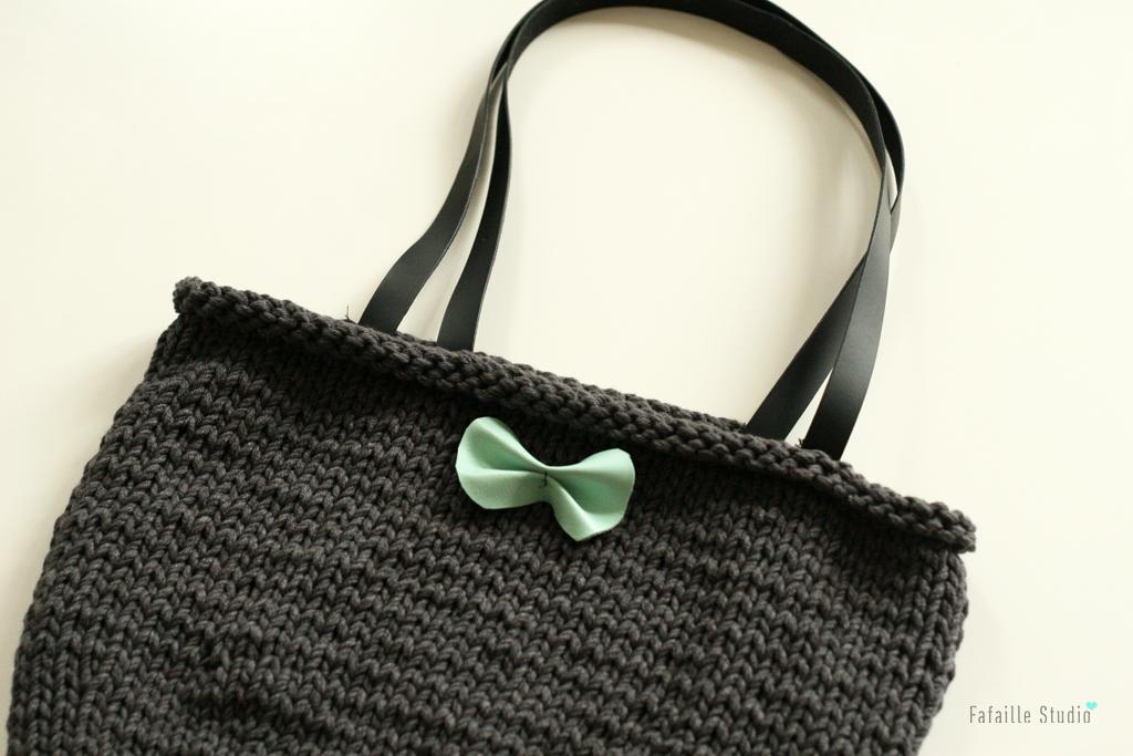 Tuto sac tricot simple
