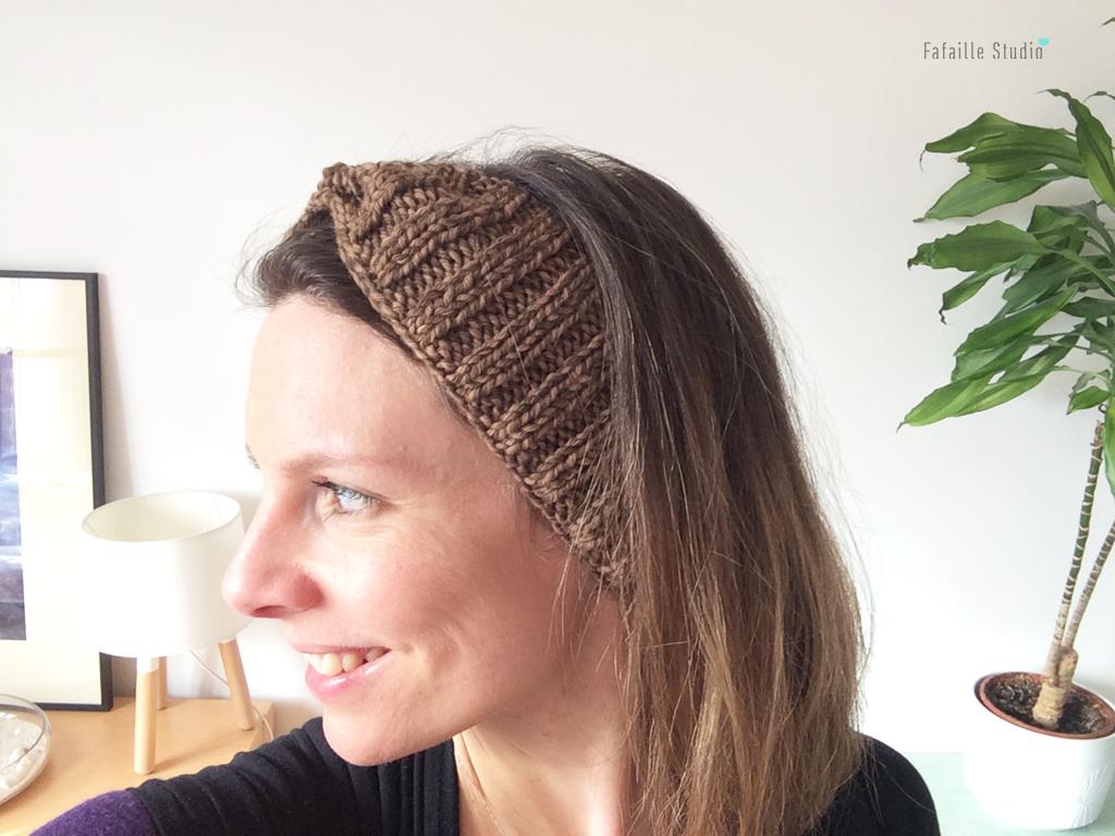tuto tricoter bandeau à côtes