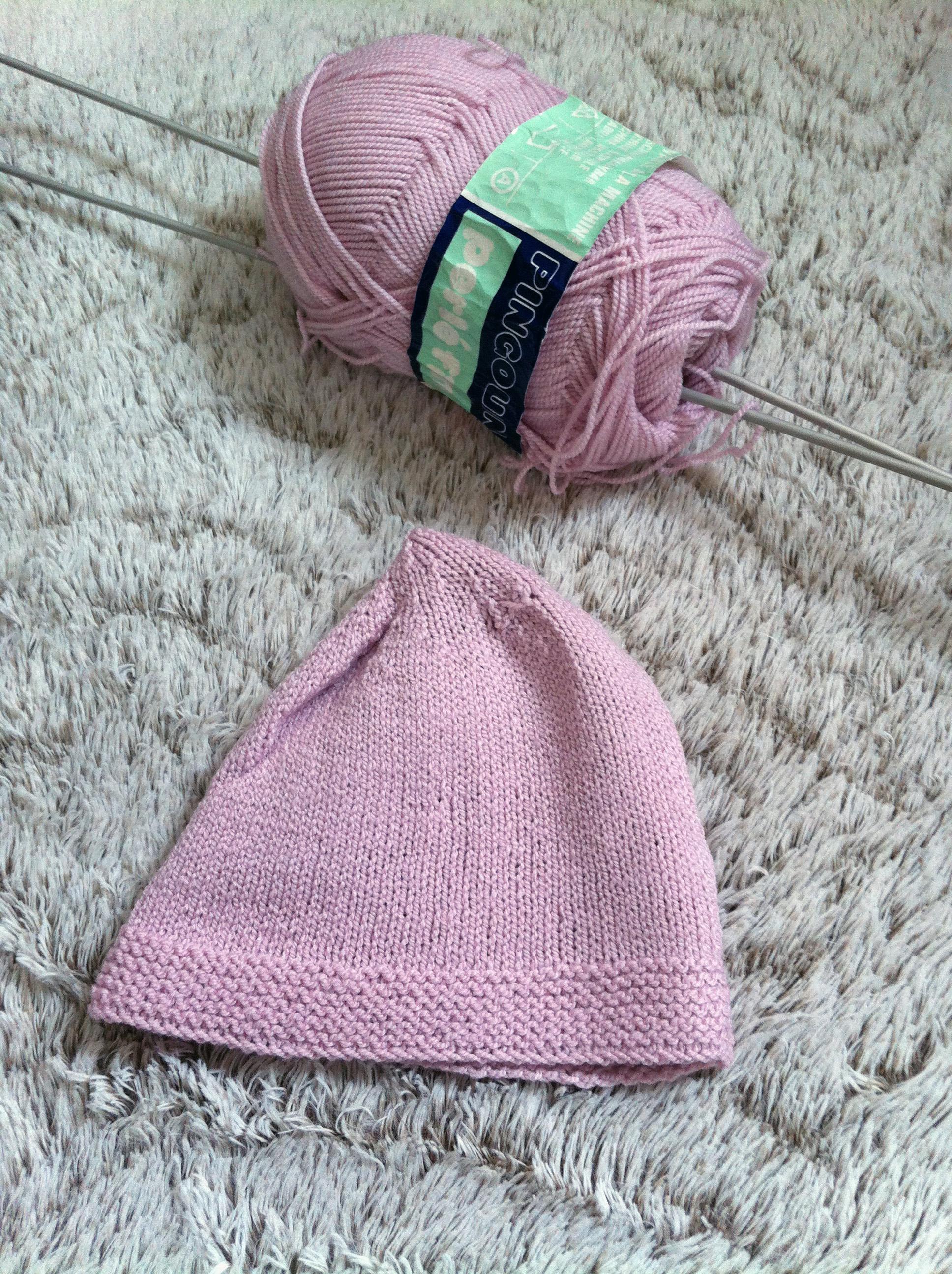 Tricot bonnet bébé facile tuto - Idées de tricot gratuit 92ad1f23002